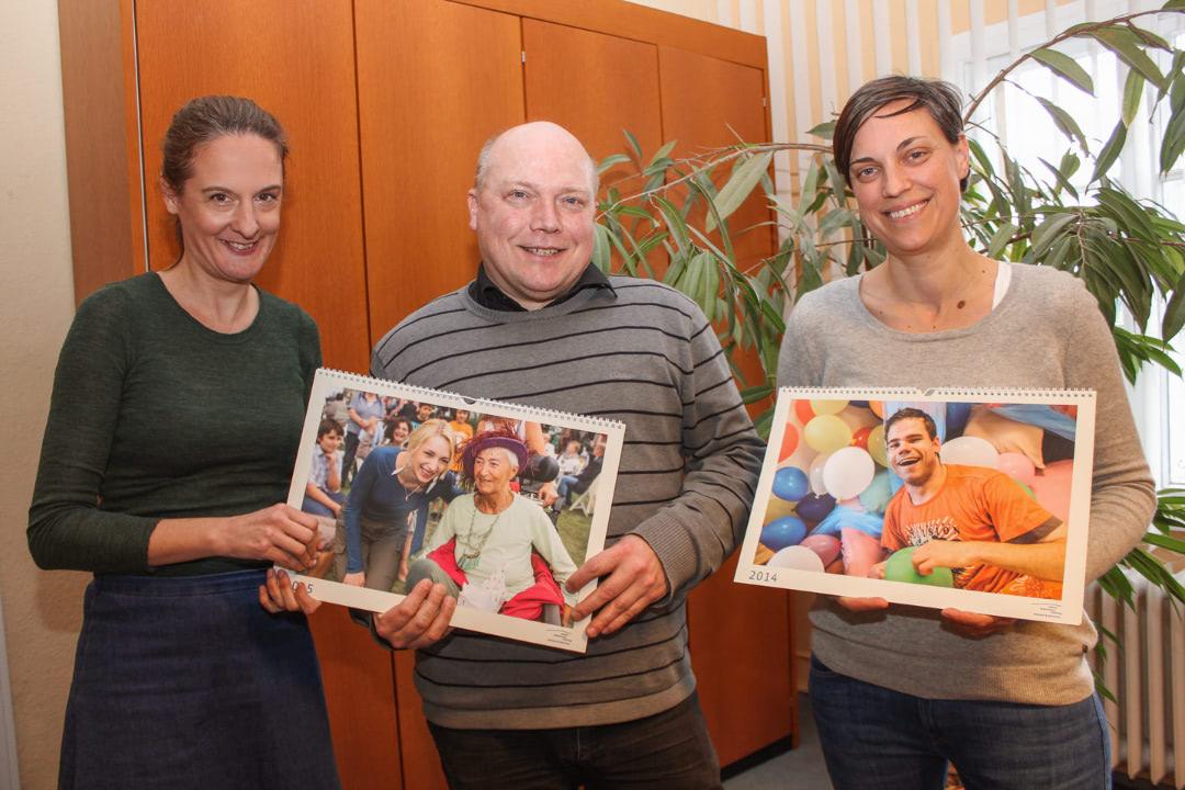 Die Mitarbeiterinnen der Öffentlichkeitsarbeit zusammen mit dem Geschäftsführer Jörg Schwarzer