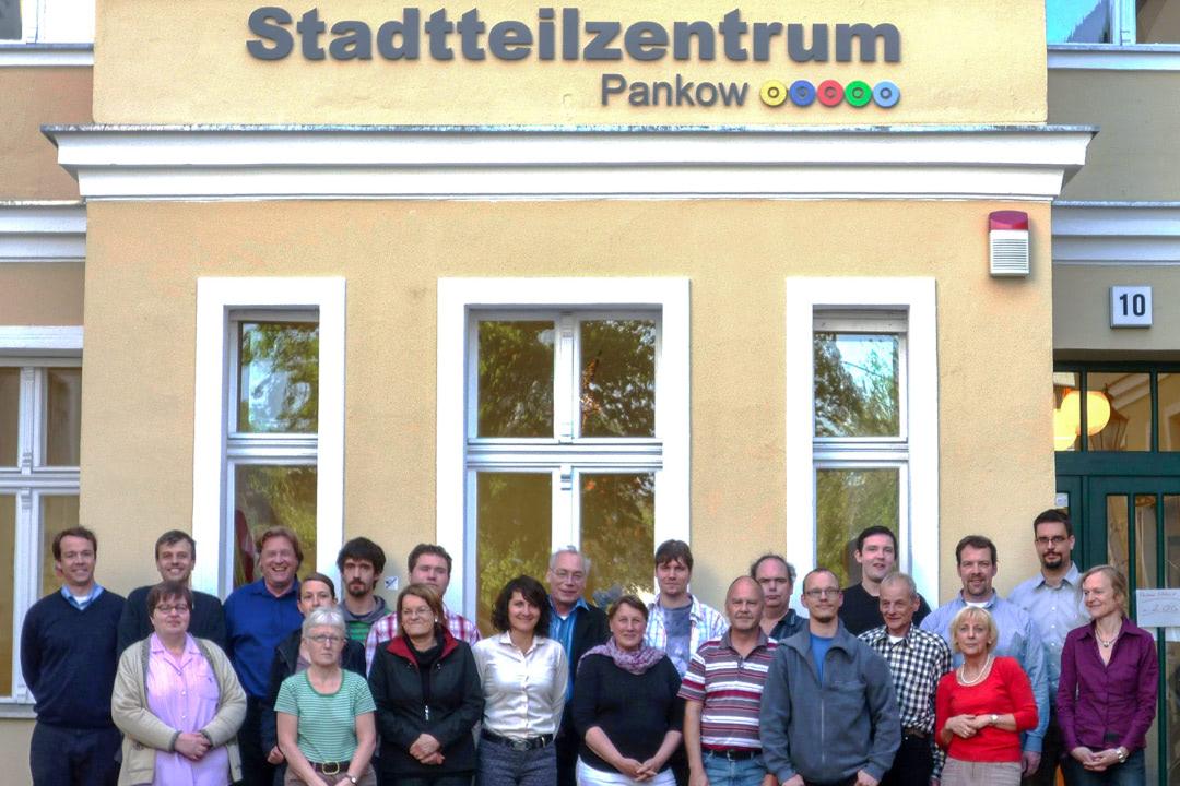 Viele Menschen, die den Bezirk Pankow inklusiver machen wollen.