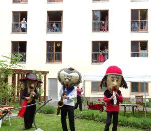Die Sax Puppets sorgten für Stimmung bei den Hofkonzerten.